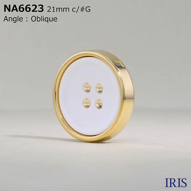 NA6623 ナイロン樹脂/ABS樹脂 表穴4つ穴ボタン  4サイズ3色展開