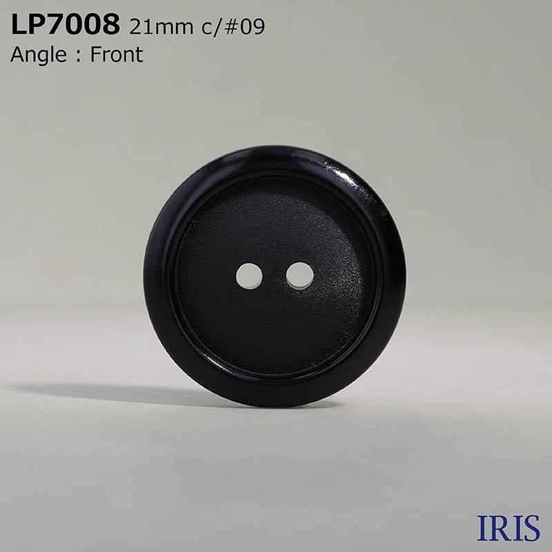 LP7008 カゼイン樹脂 表穴2つ穴ボタン  4サイズ1色展開