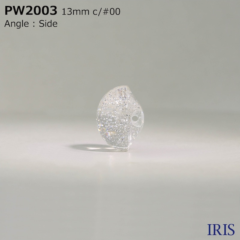 PW2003 ポリエステル樹脂 トンネル足ボタン  3サイズ2色展開