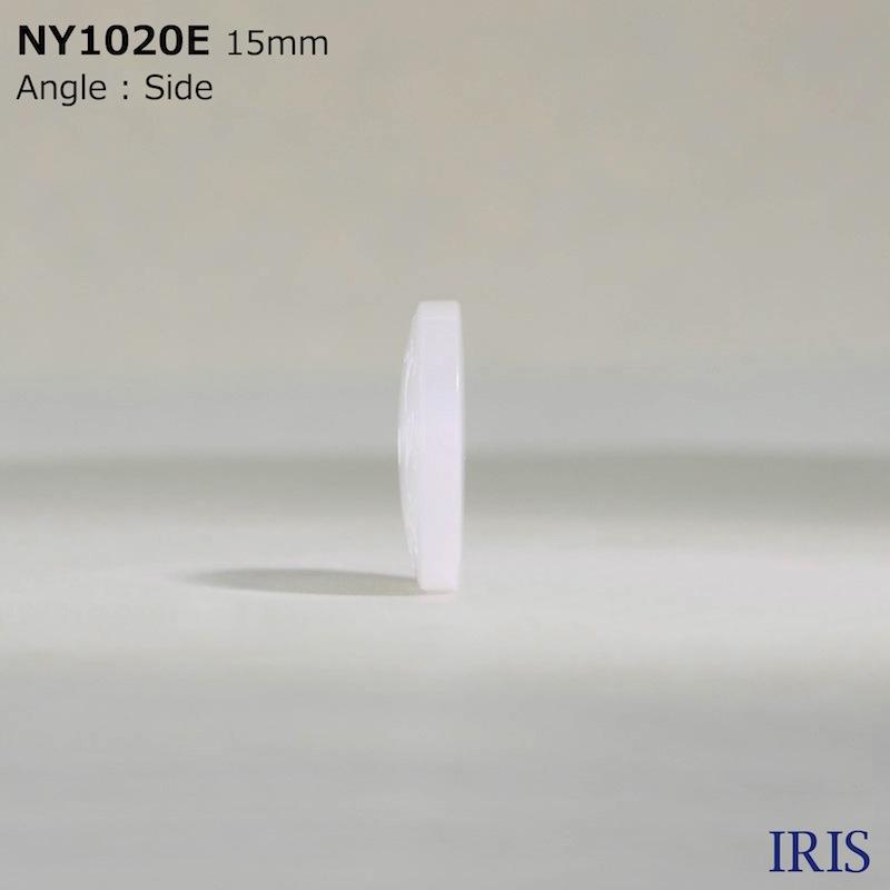 NY1020E ポリエステル樹脂 表穴2つ穴ボタン  3サイズ1色展開