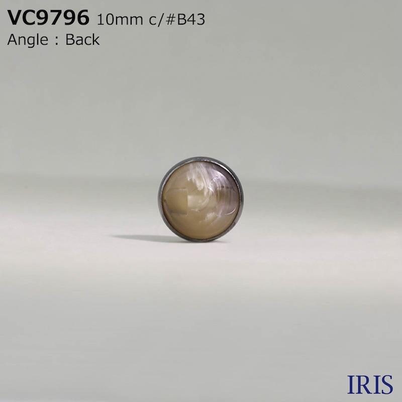 VC9796 真鍮/ポリエステル樹脂 トンネル足ボタン  1サイズ4色展開