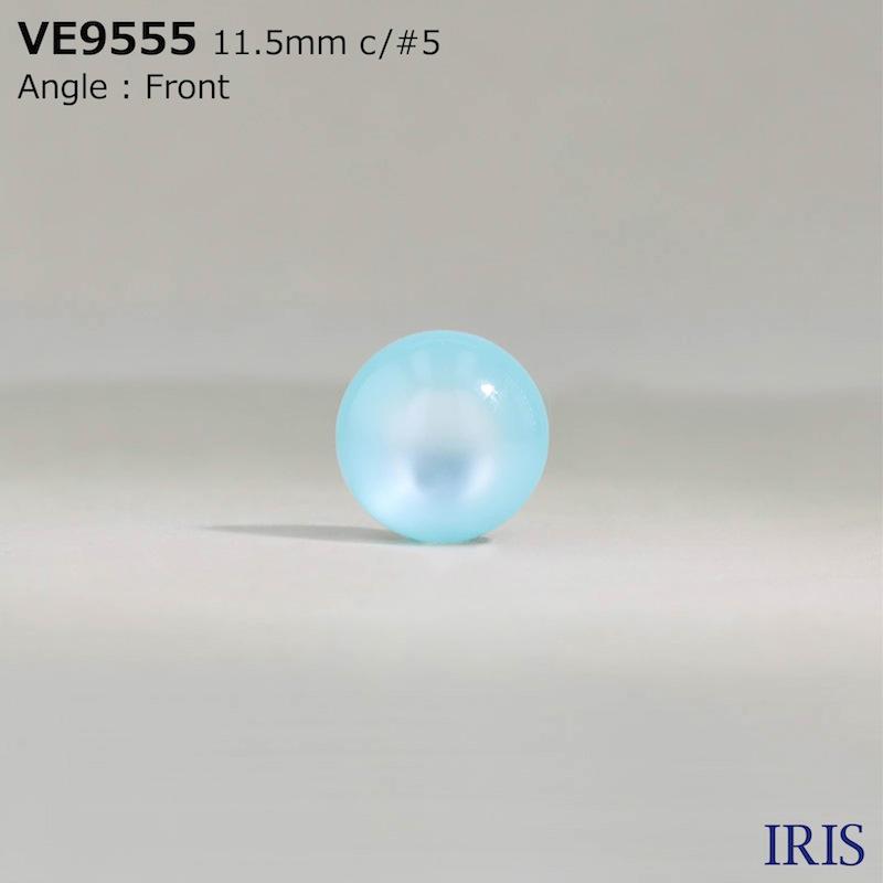VE9555 ポリエステル樹脂 トンネル足ボタン  3サイズ15色展開