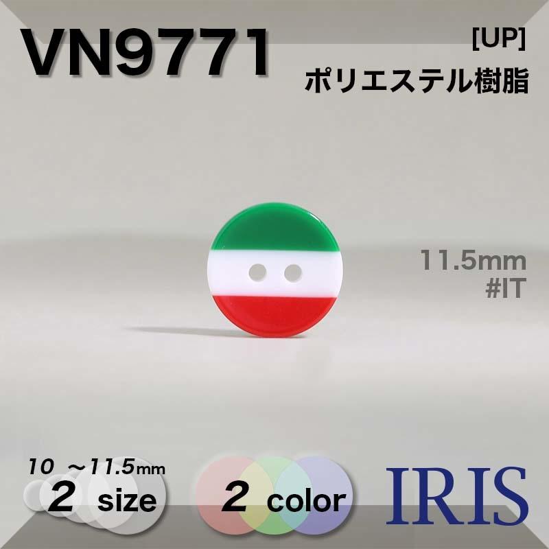 VN9771 ポリエステル樹脂 表穴2つ穴ボタン  2サイズ2色展開