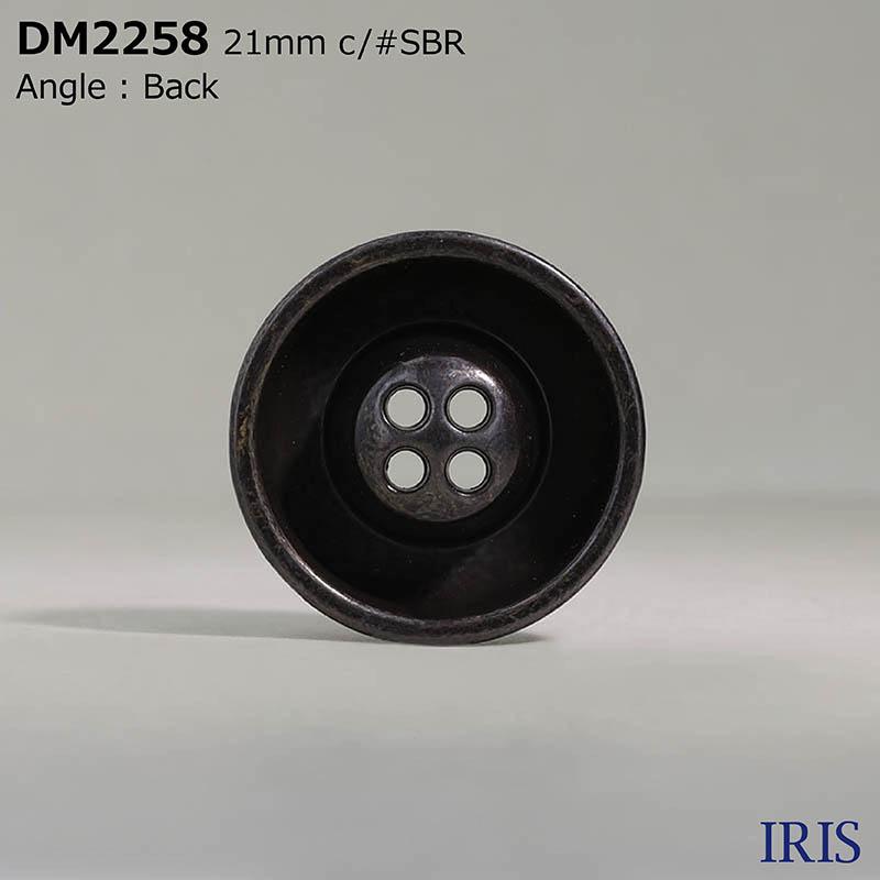 DM2258 ダイカスト 表穴4つ穴ボタン  4サイズ5色展開
