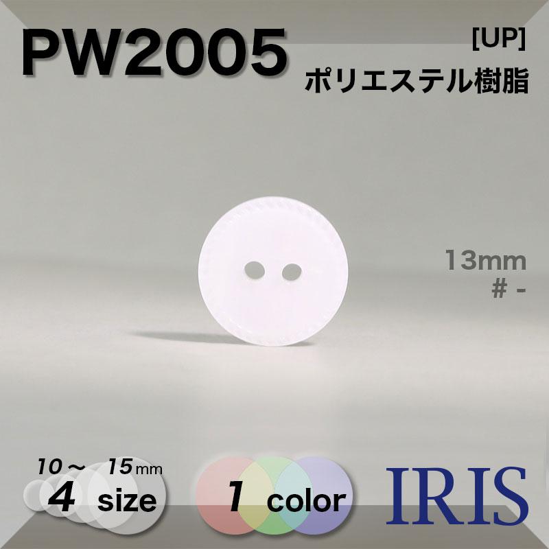 PW2005 ポリエステル樹脂 表穴2つ穴ボタン  4サイズ1色展開
