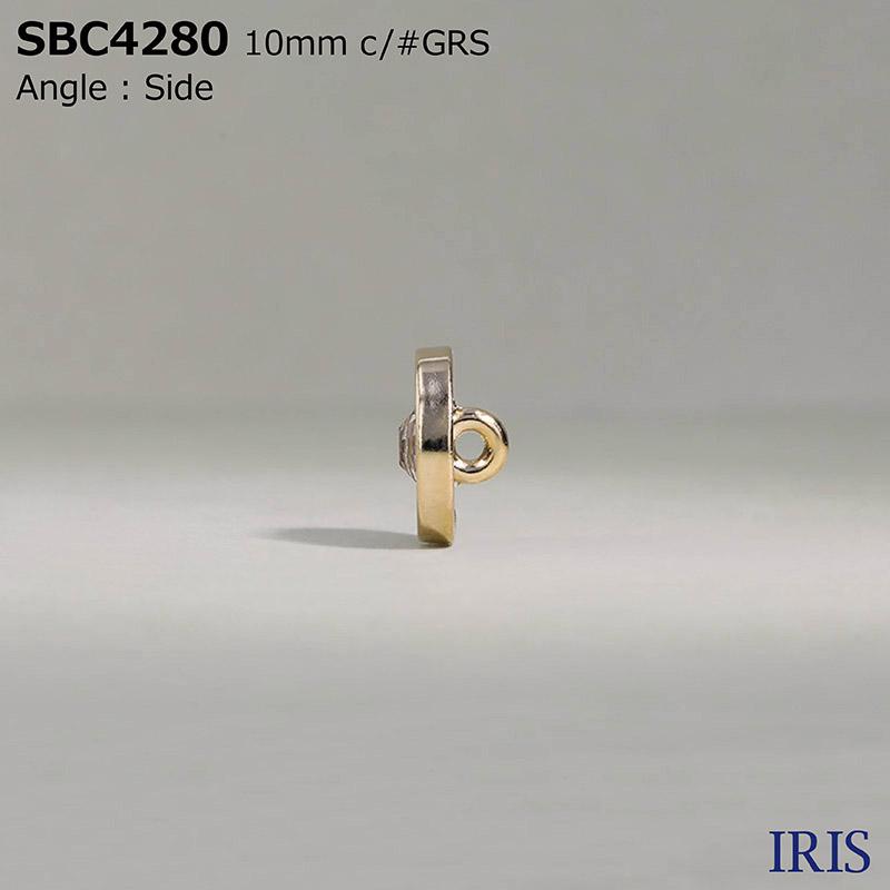 SBC4280 ガラス/エポキシ樹脂/ダイカスト 丸カン足ボタン  1サイズ3色展開