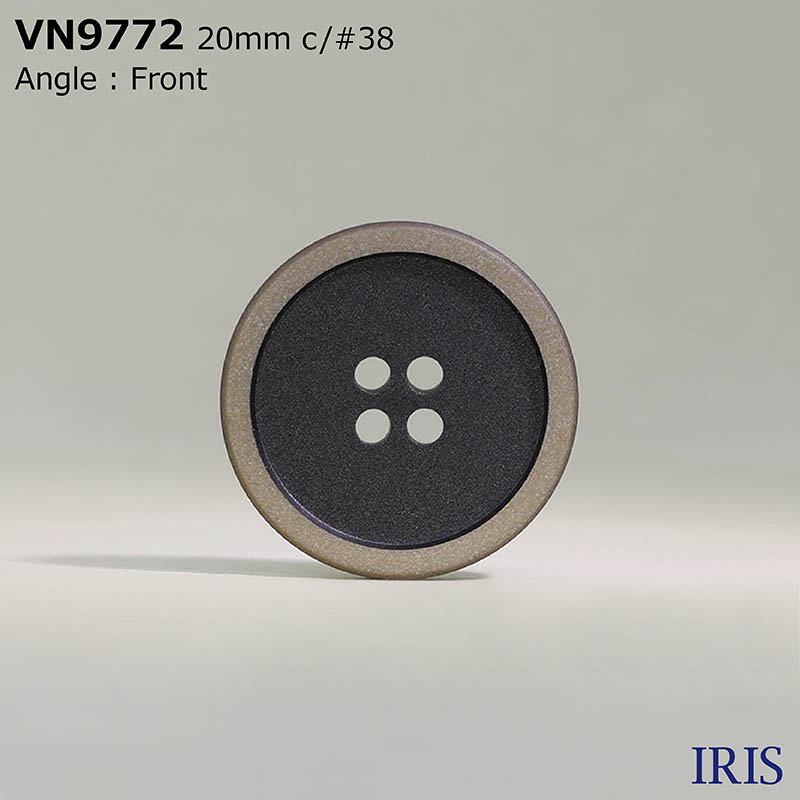 VN9772 ポリエステル樹脂 表穴4つ穴ボタン  3サイズ4色展開