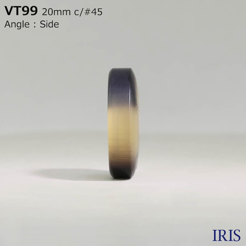 VT99 ポリエステル樹脂 表穴4つ穴ボタン  6サイズ5色展開