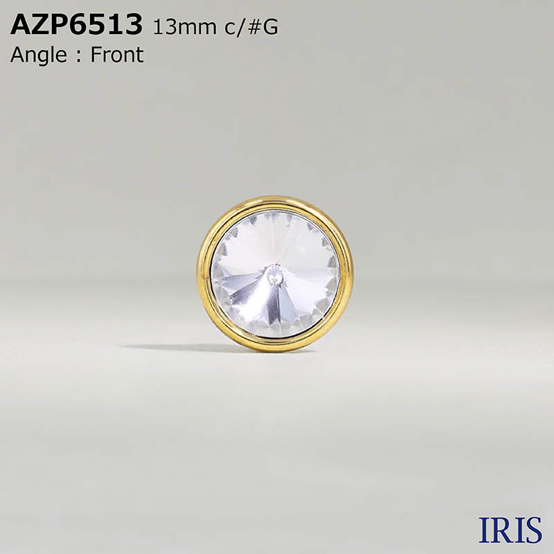AZP6513 アクリル樹脂/ABS樹脂 半丸カン足ボタン  3サイズ2色展開
