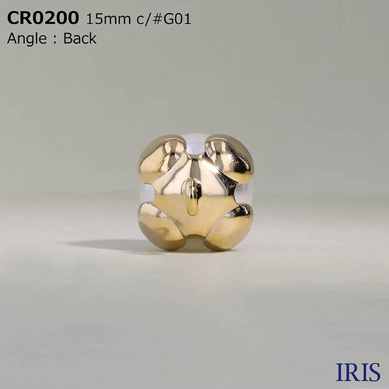 CR0200 パールコーティング/真鍮 丸カン足ボタン  3サイズ3色展開