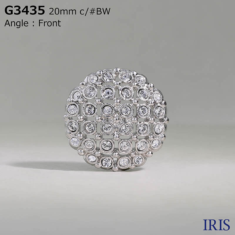 G3435 ガラス/キャスト 半丸カン足ボタン  3サイズ1色展開