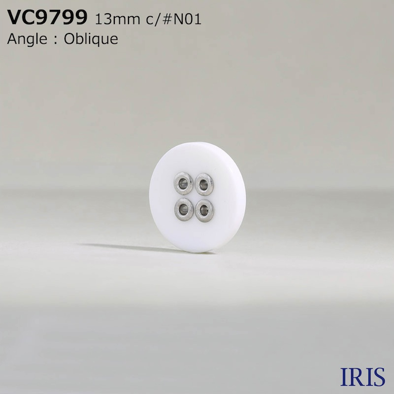 VC9799 真鍮/ポリエステル樹脂 表穴4つ穴ボタン  2サイズ3色展開