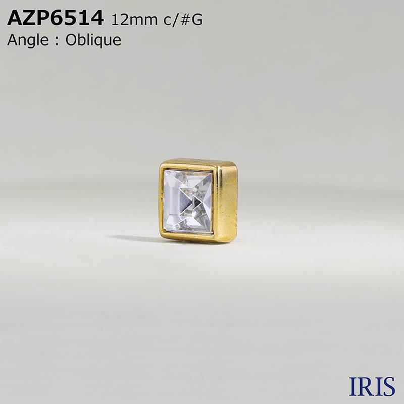 AZP6514 アクリル樹脂/ABS樹脂 角カン足ボタン  1サイズ2色展開