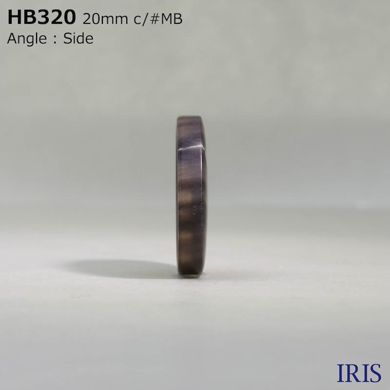 HB320 本水牛 表穴4つ穴ボタン  6サイズ6色展開