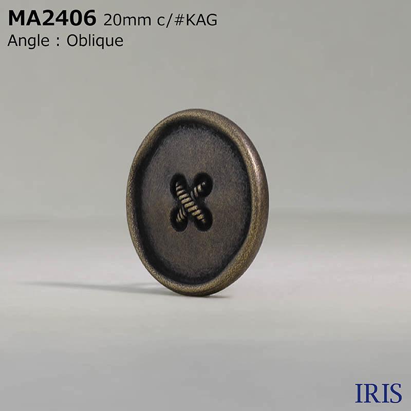 MA2406 真鍮 丸カン足ボタン  2サイズ2色展開