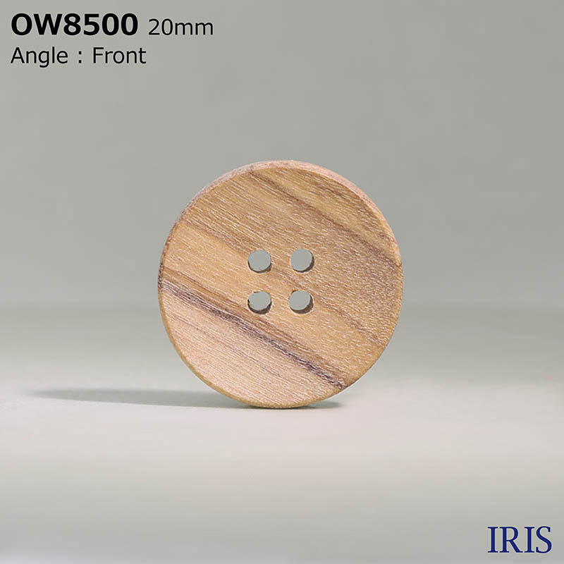 OW8500 木 表穴4つ穴ボタン  5サイズ1色展開