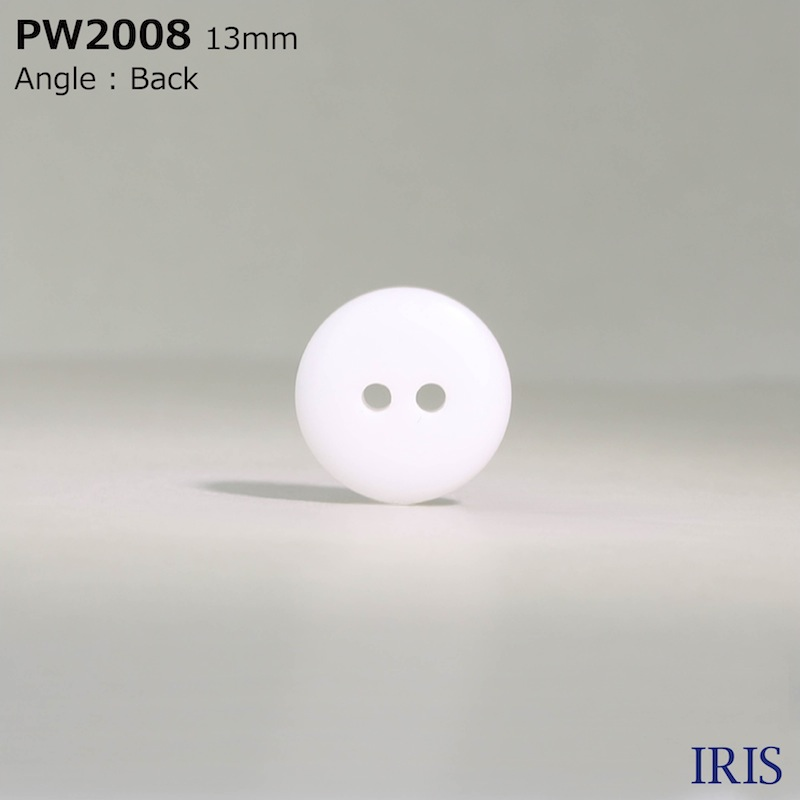 PW2008 ポリエステル樹脂 表穴2つ穴ボタン  4サイズ1色展開