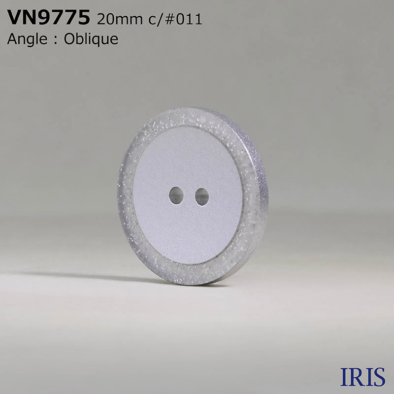 VN9775 ポリエステル樹脂 表穴2つ穴ボタン  4サイズ3色展開
