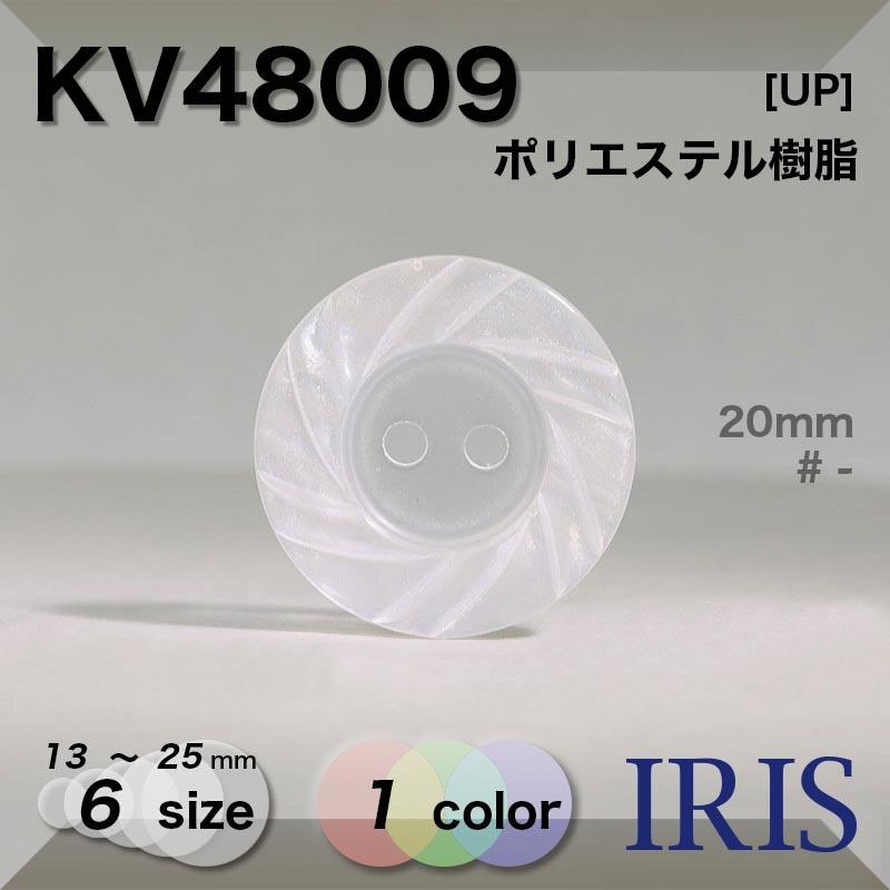 KV48009 ポリエステル樹脂 表穴2つ穴ボタン  6サイズ1色展開