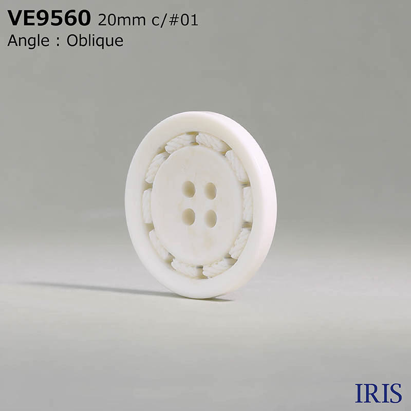 VE9560 ポリエステル樹脂 表穴4つ穴ボタン  4サイズ4色展開