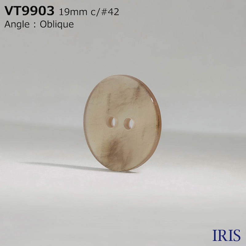 VT9903 ポリエステル樹脂 表穴2つ穴ボタン  6サイズ11色展開