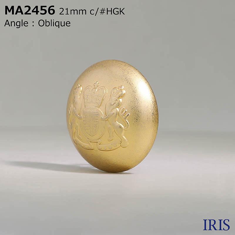 MA2456 真鍮 丸カン足ボタン  5サイズ9色展開