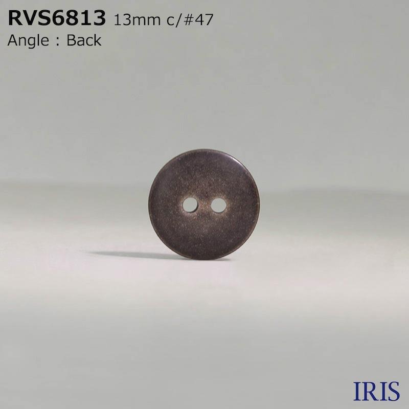 RVS6813 ポリエステル樹脂 表穴2つ穴ボタン  2サイズ4色展開