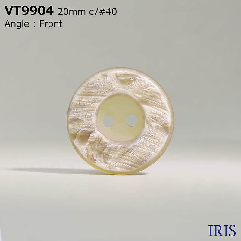 VT9904 ポリエステル樹脂 表穴2つ穴ボタン  6サイズ5色展開
