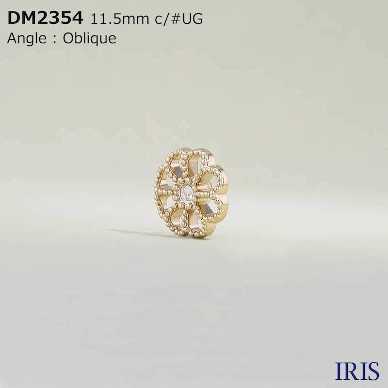 DM2354 ガラス/ダイカスト 丸カン足ボタン  1サイズ2色展開