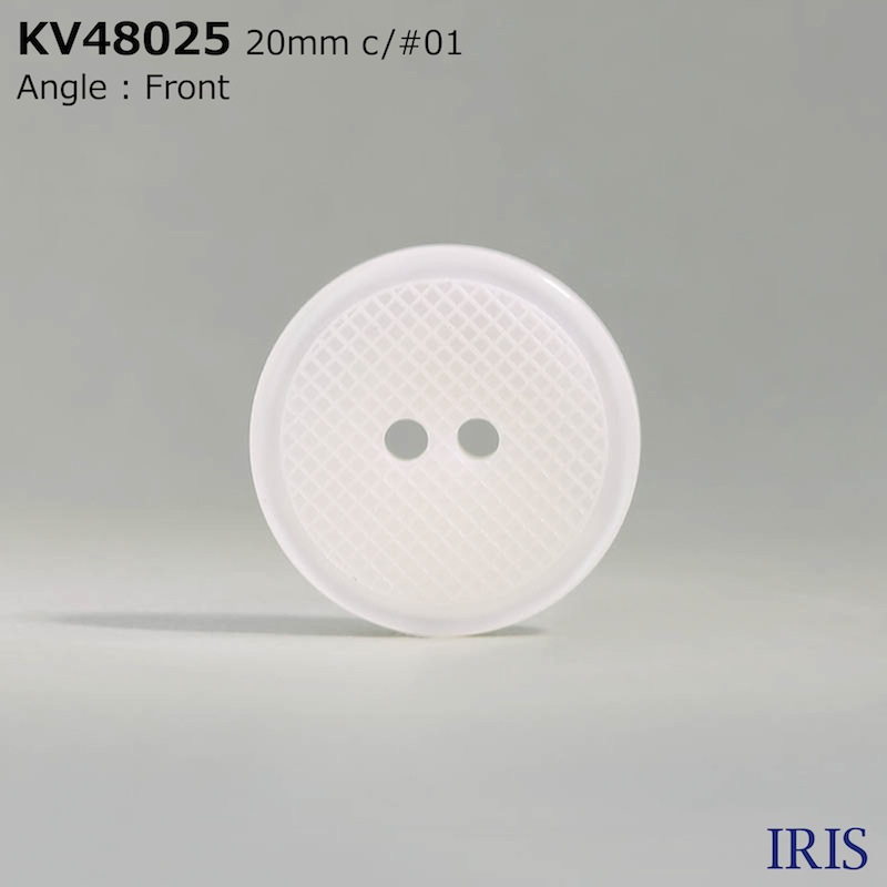 KV48025 ポリエステル樹脂 表穴2つ穴ボタン  5サイズ2色展開