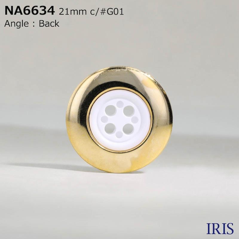 NA6634 ナイロン樹脂/ABS樹脂 表穴4つ穴ボタン  8サイズ4色展開
