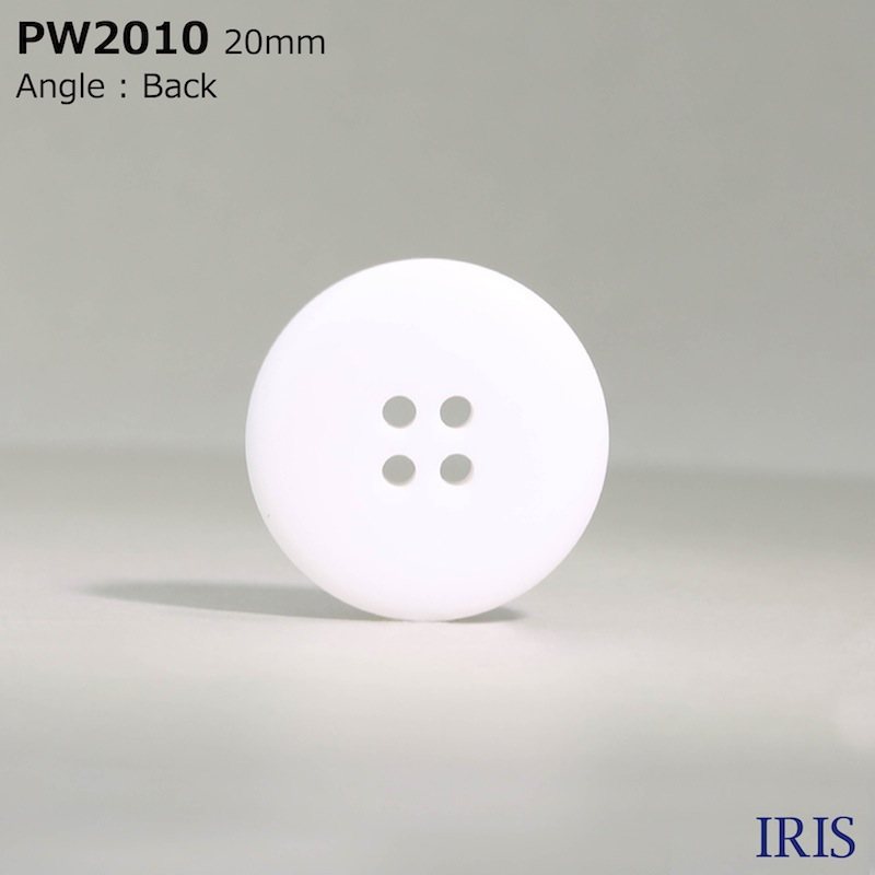 PW2010 ポリエステル樹脂 表穴4つ穴ボタン  6サイズ1色展開