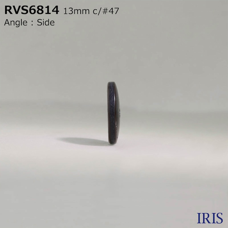 RVS6814 ポリエステル樹脂 表穴2つ穴ボタン  2サイズ4色展開