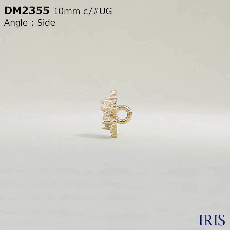 DM2355 ガラス/ダイカスト 丸カン足ボタン  1サイズ2色展開