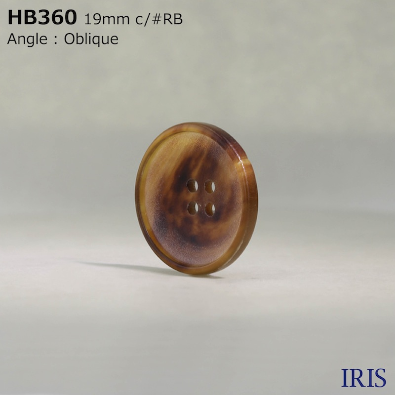 HB360 本水牛 表穴4つ穴ボタン  2サイズ8色展開