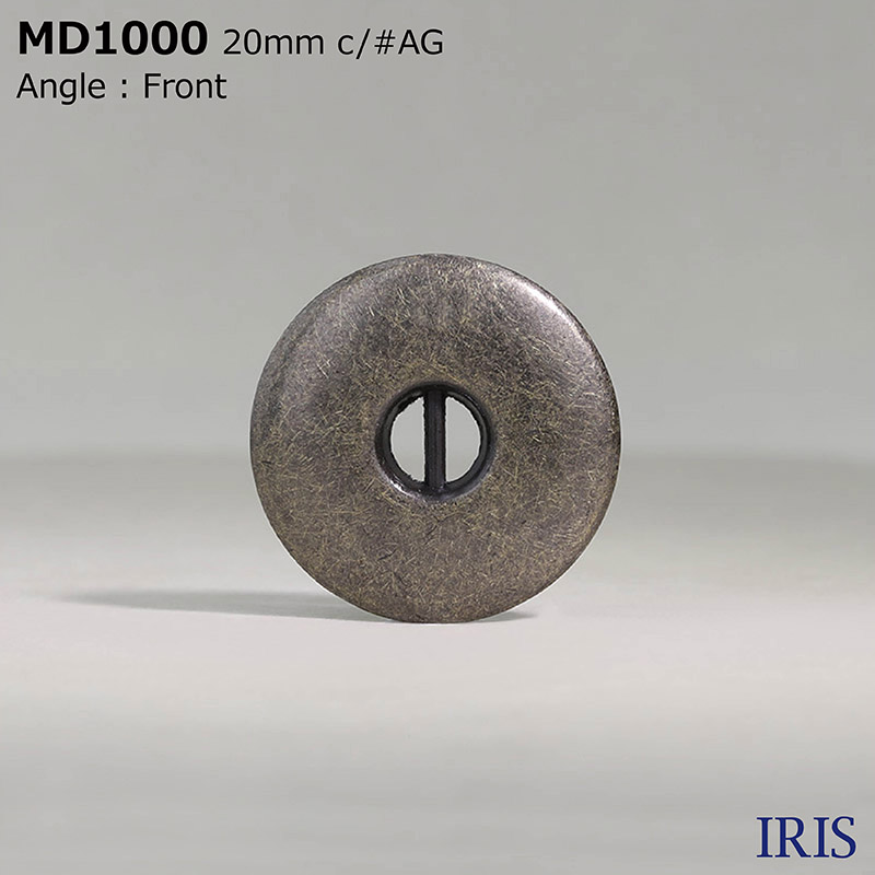 MD1000 ダイカスト 表穴2つ穴ボタン  4サイズ4色展開