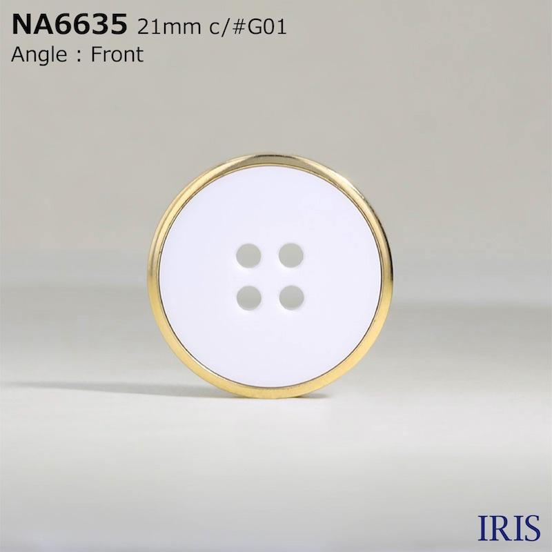 NA6635 ナイロン樹脂/ABS樹脂 表穴4つ穴ボタン  8サイズ4色展開