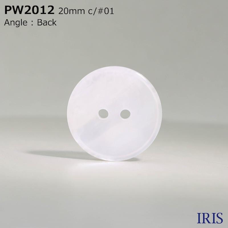 PW2012 ポリエステル樹脂 表穴2つ穴ボタン  5サイズ3色展開