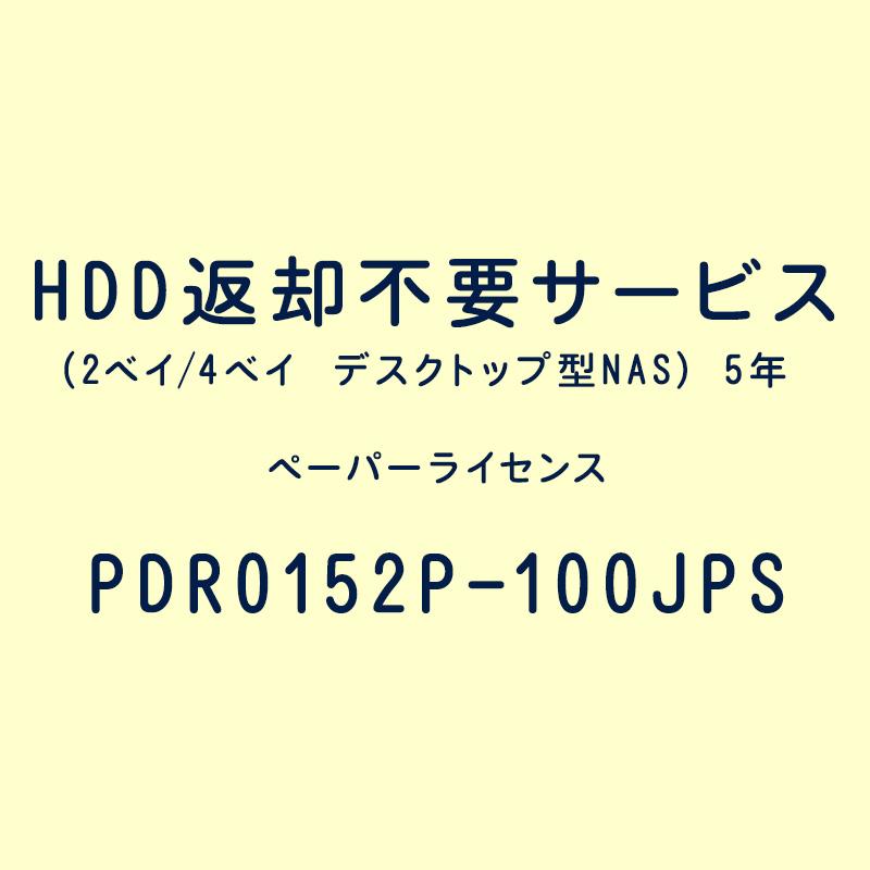 HDD返却不要サービス(2ベイ/4ベイ デスクトップ型NAS) 5年
