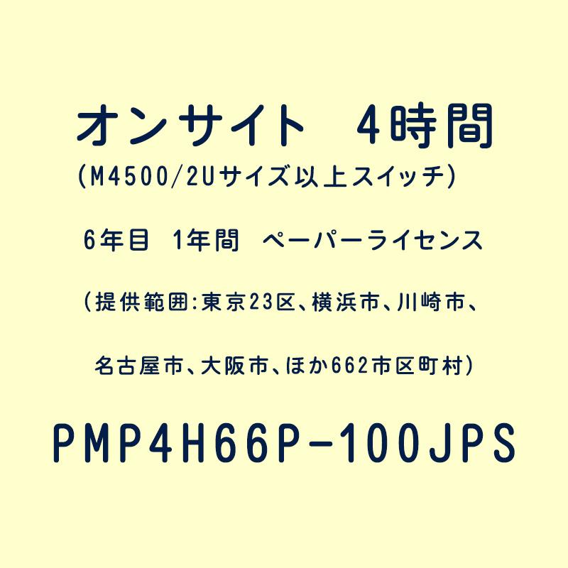 オンサイト 4時間 (M4500/2Uサイズ以上スイッチ) 6年目 1年間