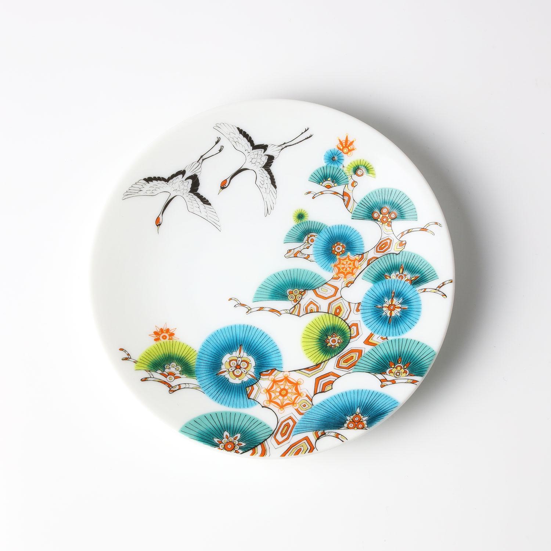 松と鶴 小皿