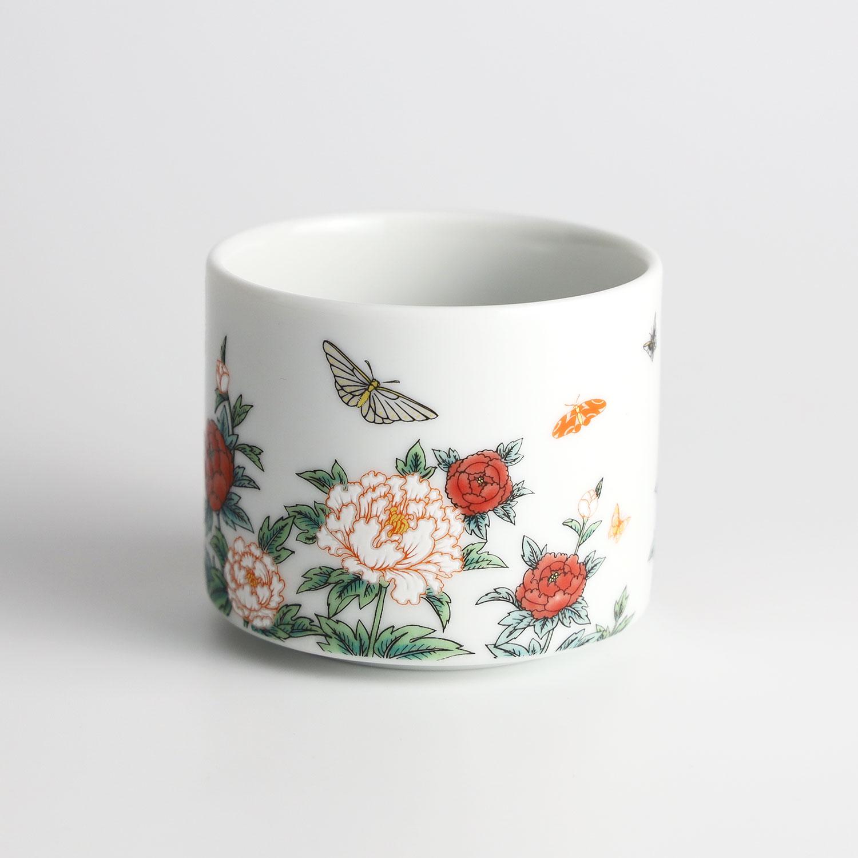 牡丹と蝶 カップ