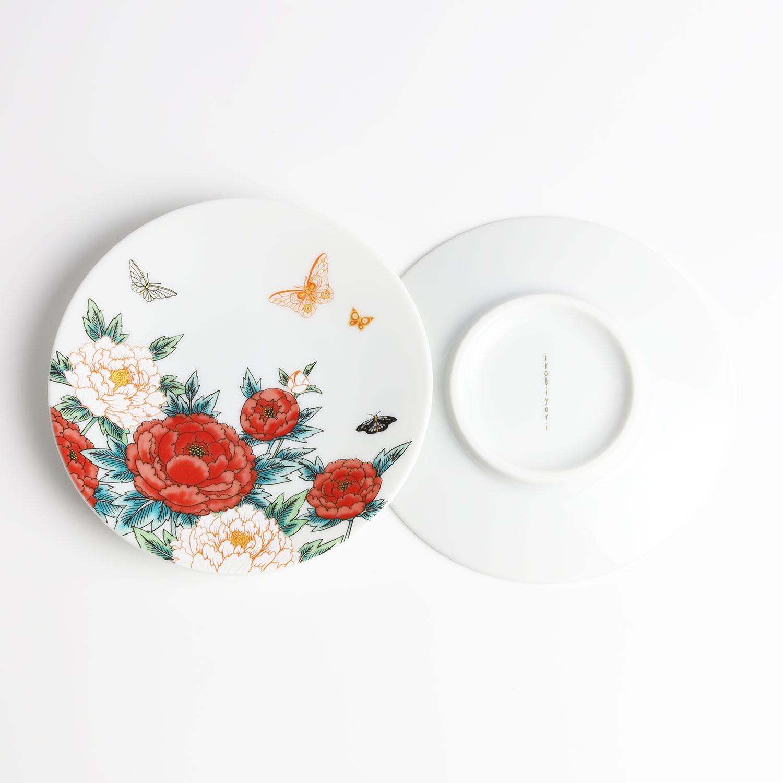 牡丹と蝶 小皿