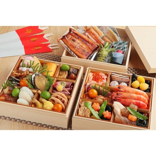 (12月31日(金)お届け)【江戸川】3人用、三重折「鰻おせち」 [送料込み]