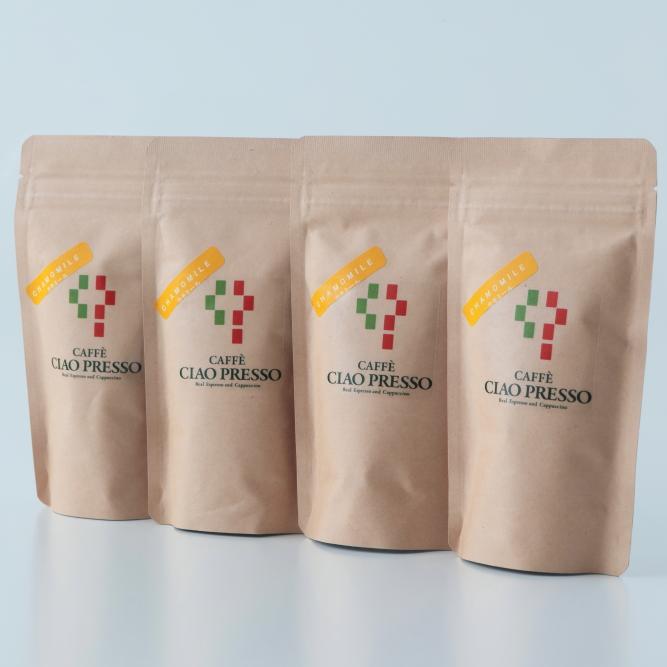 【カフェチャオプレッソ】 カモミール 紅茶ティーバッグ4個セット