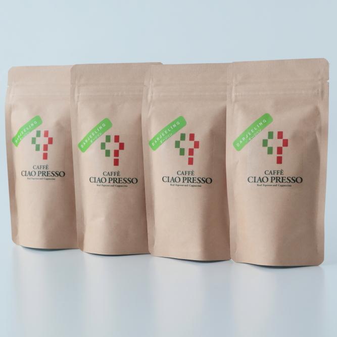 【カフェチャオプレッソ】 ダージリン 紅茶ティーバッグ 4個セット