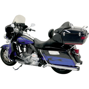 Bassani CHROME / BLACK ROAD RAGE II B1 POWER SYSTEM PSEUDO LEFT-SIDE MUFFLER