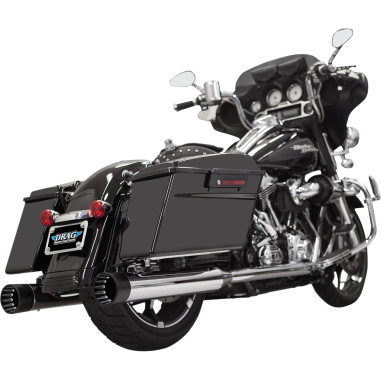 Bassani CHROME/BLACK DNT® STRAIGHT CAN MUFFLERS
