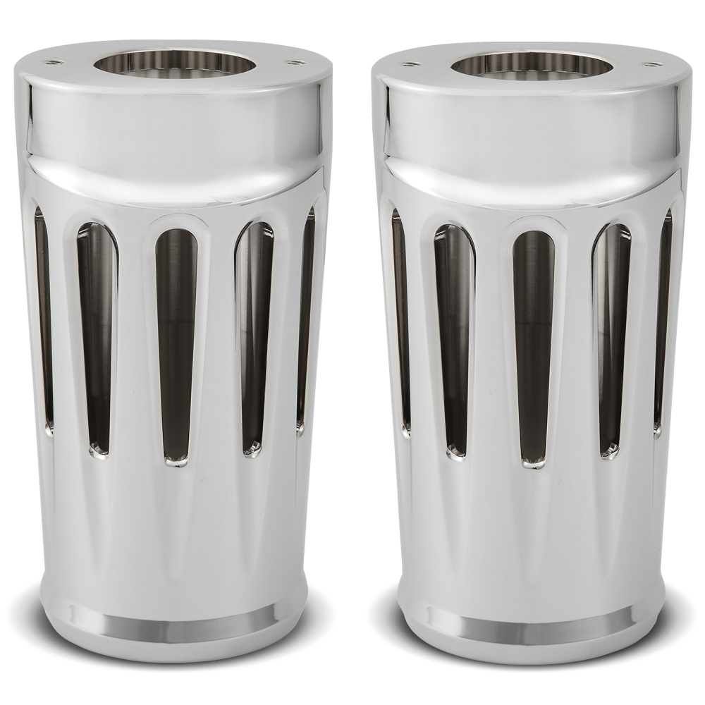 Deep Cut Fork Boots Covers - Chrome