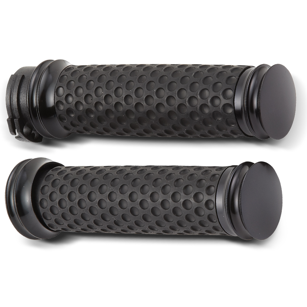 Smooth Dimpled Soft-Touch Grips-  Chrome&Black